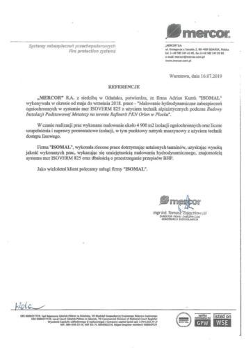 referencje Mercor 2019